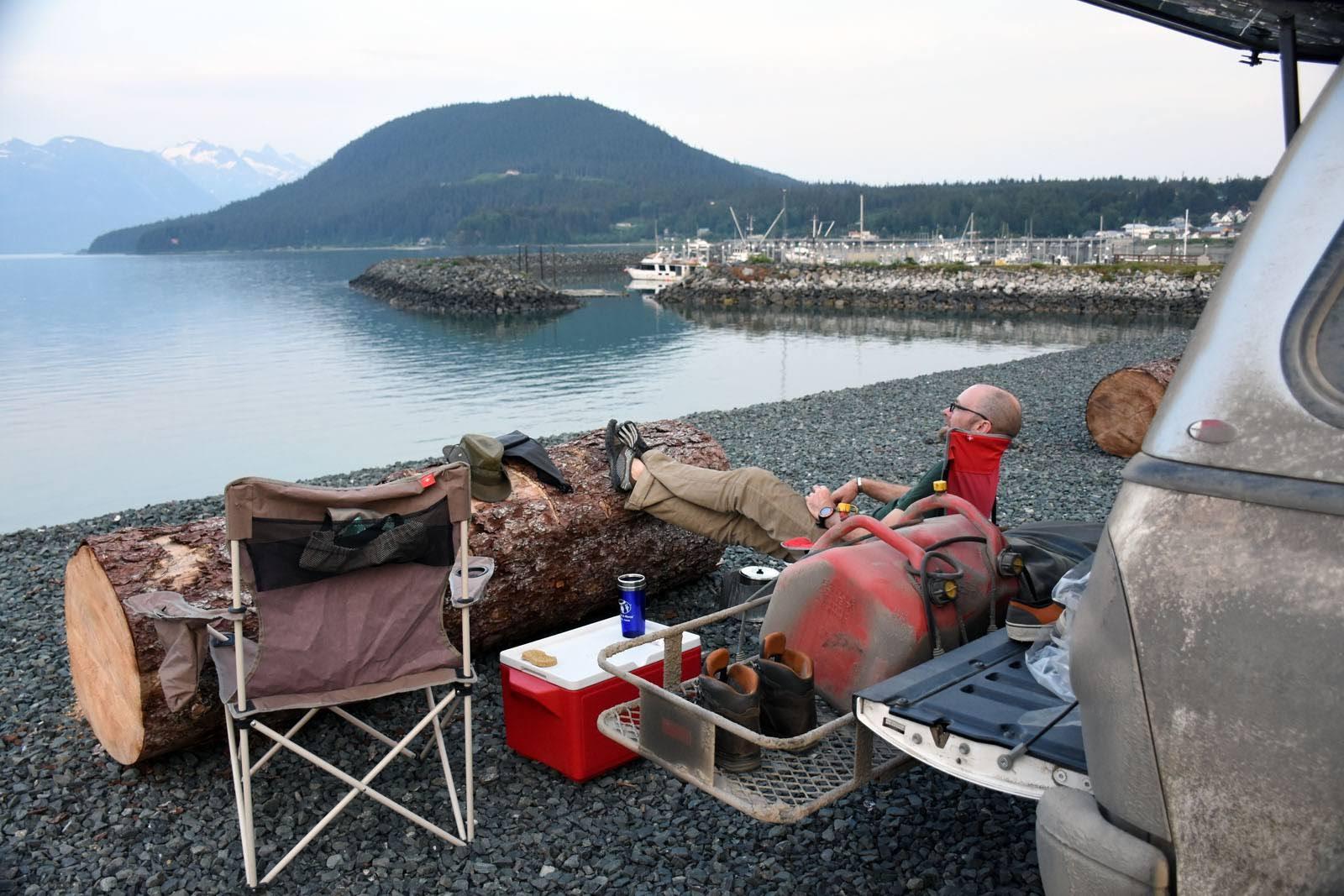 Camping avec vue sur la mer