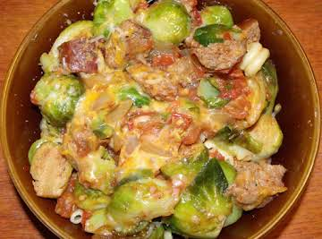 Italian Sausage and Brussel Sprouts Dinner
