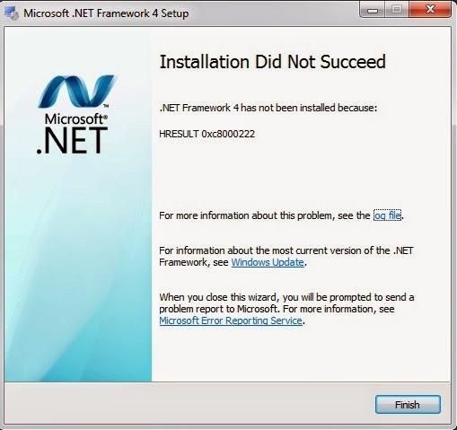 Cách Xử Lý Lỗi HRESULT 0xc8000222 Khi Cài Đặt .Net Framework 1