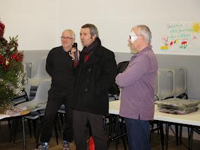 Photo: Allocution de M. POURRAT pour la municipalité de St Alban du Rhône.