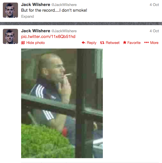 Jack Wilshere Tweets a smoking pun ahead of West Brom v Arsenal