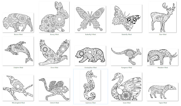 Pattern Fills For You To Use To Fill The Animal Designs In Various Way  To Create Your Own Style Of Coloring Pages And Coloring Books
