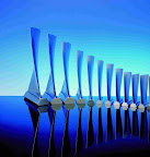 Solid titanium compressor blades for the aviation industry