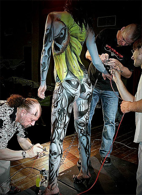 Body Painting Airbrush Show Genoa  JR Eventi  Giorgio39s