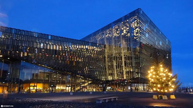 the Harpa Concert Hall in Reykjavik, Iceland in Reykjavik, Hofuoborgarsvaeoi, Iceland