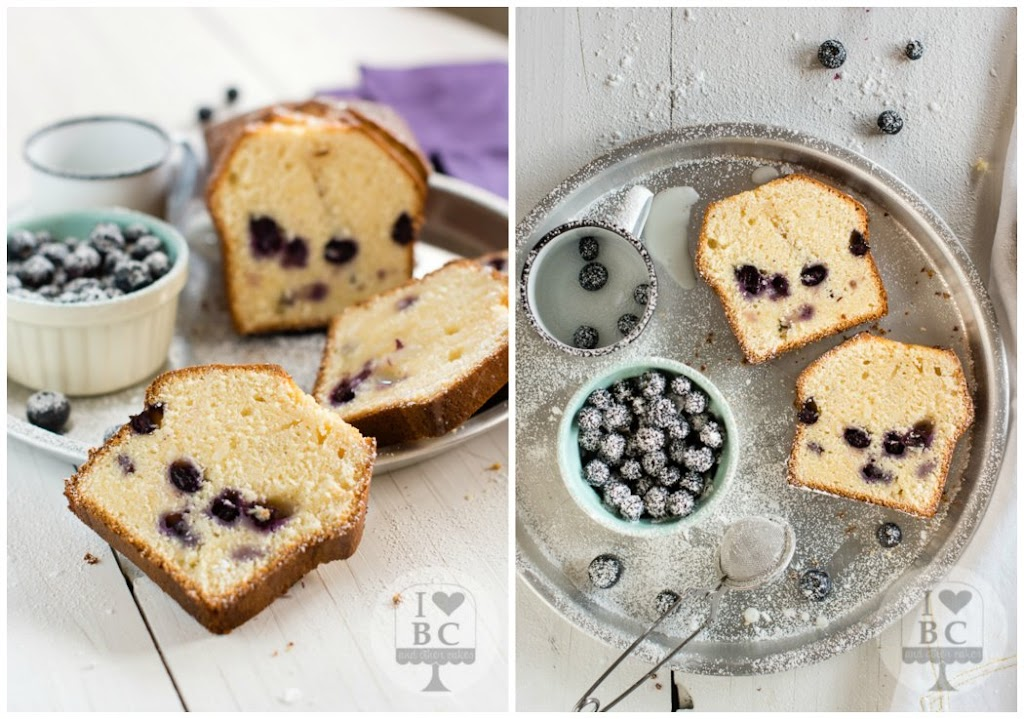 Lemon and blueberries Loaf Cake