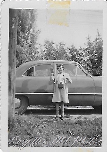 Girl and car Verndale ant
