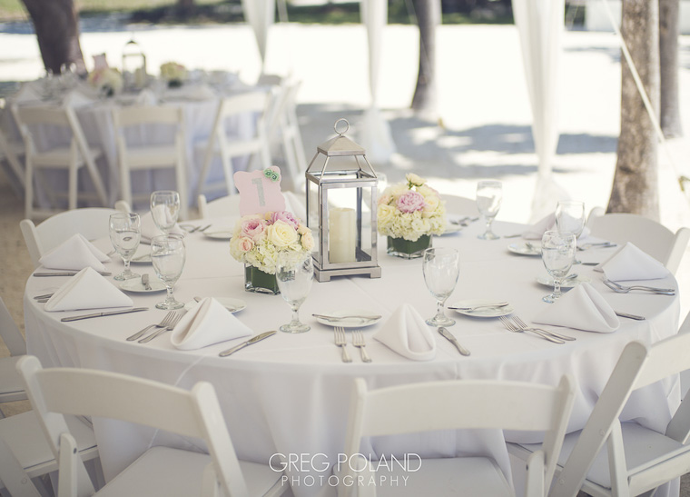 beach wedding reception decorations