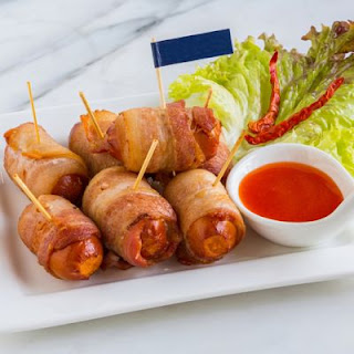 Sugary Bacon-Wrapped Mini Smokies