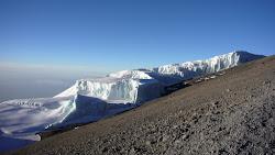 Glacier sud-est du Kilimanjaro