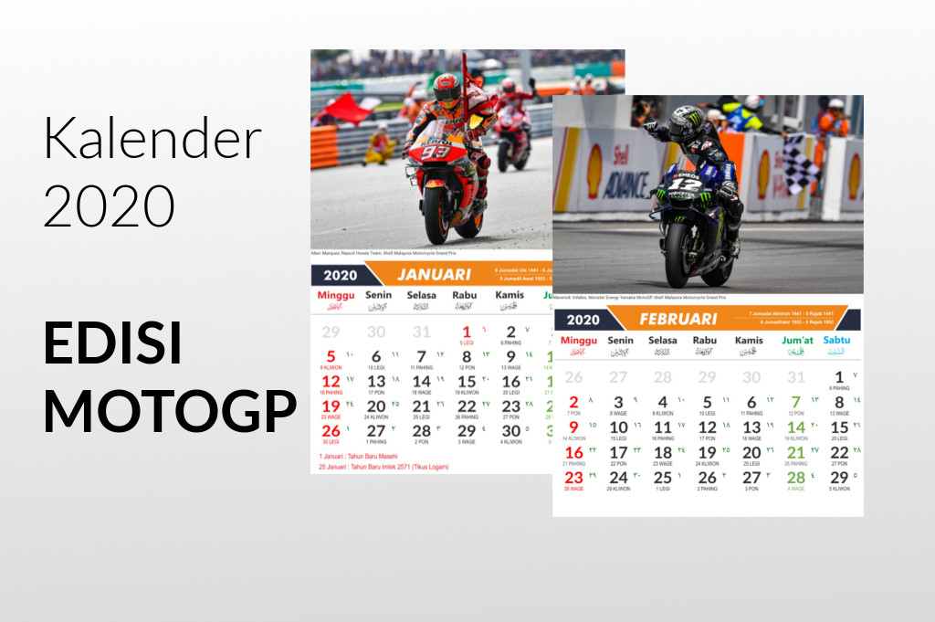 Download Kalender Tahun 2020 Edisi Event Motogp 2019