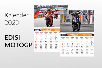Download Kalender Tahun 2020 Edisi Event Motogp 2019