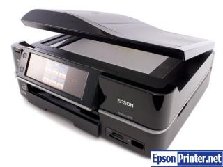Reset Epson Artisan 835 printing device by tool