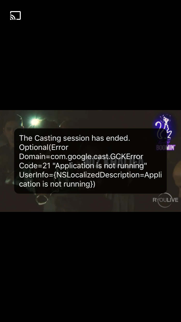 Casting screen to tv has ended chromecast