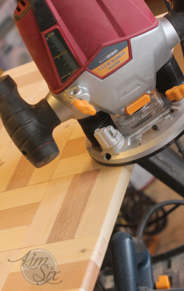 Using router on edge of wooden board
