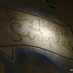 Chapelle Saint-Blaise-des-Simples : inscription Saint Blaise des Simples