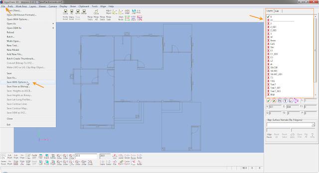 การแปลงไฟล์จาก AutoCAD มาใช้งานใน modo Cad2modo02