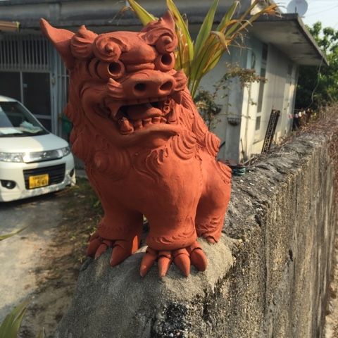 Shisa statues protect houses in Okinawa from evil spirits