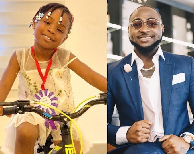 Davido Buy Bicycle For Imade As She Graduates From Kindergarten