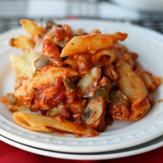 Sausage and Peppers Pasta Bake