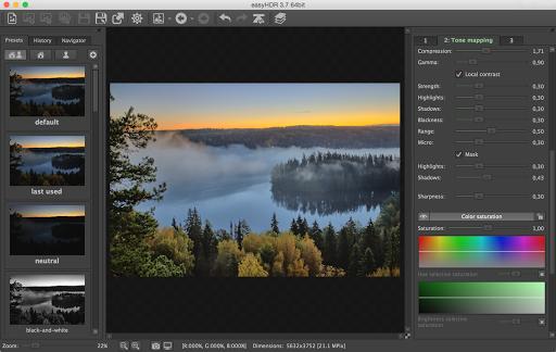 HDR kuvien yhdistäminen EasyHDR ohjelmalla