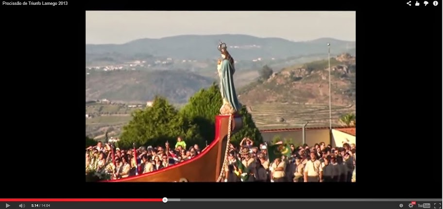Vídeo - Procissão do triunfo - Festa de Nossa Senhora dos Remédios - Lamego