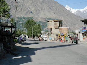 View of Aliabaad bazaar.