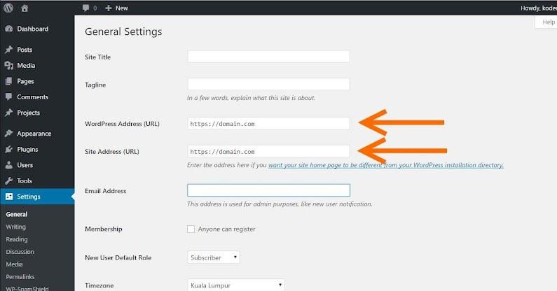 Setting WordPress ke HTTPS