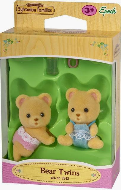 Gấu con sinh đôi Sylvanian Families 3243 được làm từ chất liệu vải mềm mại