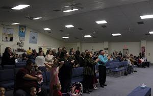 The wonderful congregation we had that night!