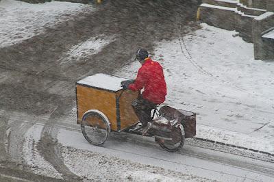 poczta polska zimą