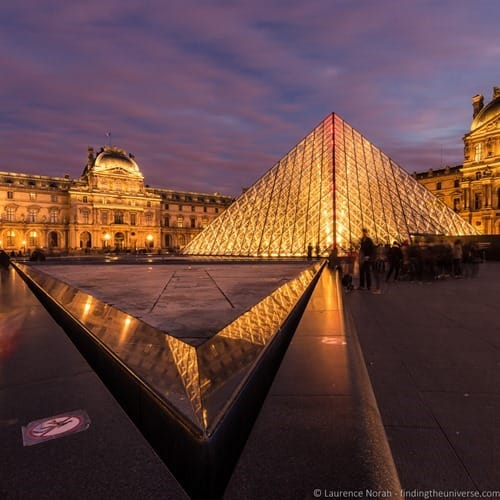 Louvre Paris Dusk