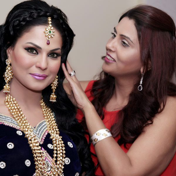 Veena Malik and Ritu Kolentine during Cleopatra chain of spas & salon showcased the Gala Fashion show in New Delhi.