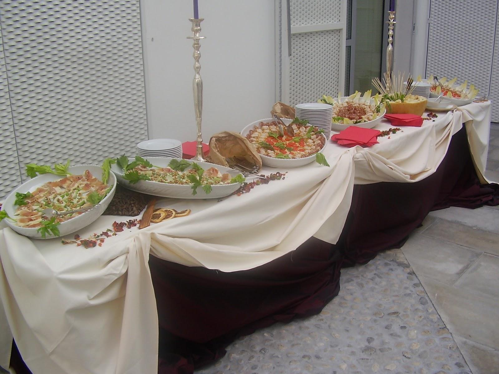 Luis atmospherae fine catering - Tavole apparecchiate per buffet ...