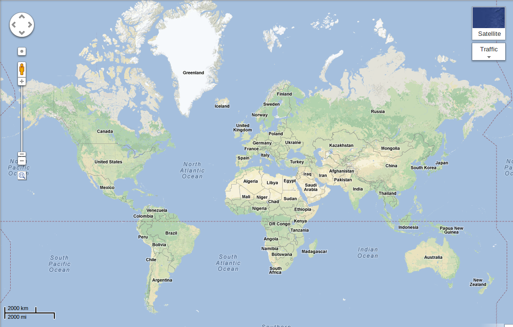 weltkarte google Google Maps mit natürlicherem Look   GWB weltkarte google