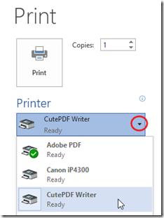 PDF A1 - Select Printer