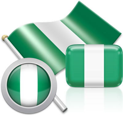 Nigerian flag icons pictures collection