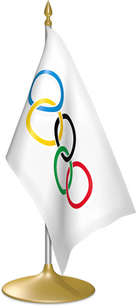 Olympic table flags - desk flags