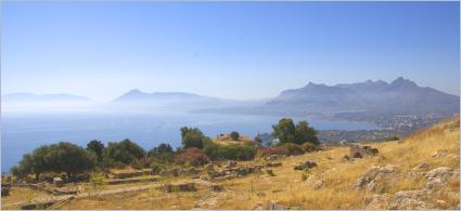 Sizilien - Solunto - Blick vom Amphitheater aus