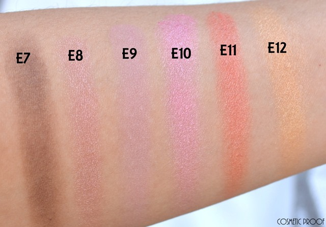 Shu Uemura Haute Street Warm x Vibrant Eye Shadow Palette Review Swatches (6)