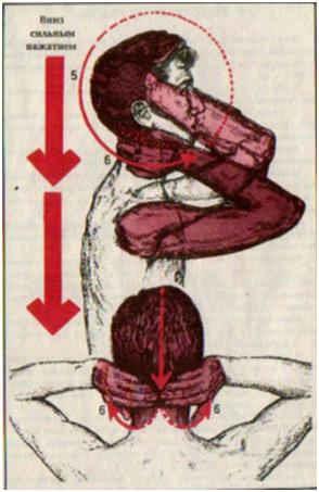 Мытье лица и головы вниз