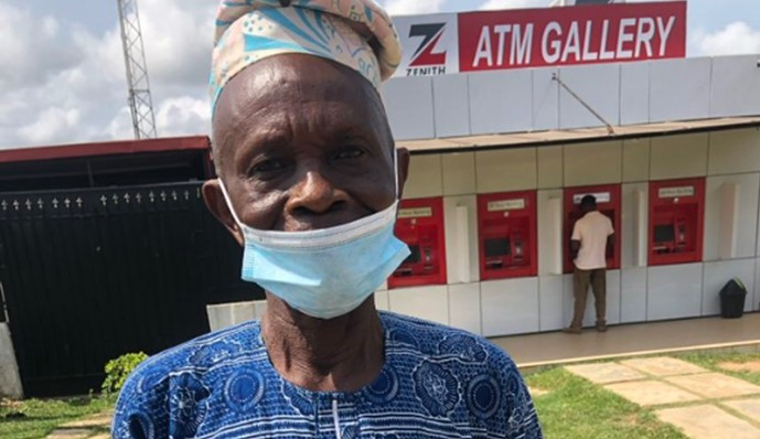Elderly man cries out after Yahoo boys wiped his pension account (Video)