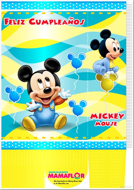 Molde de Mickey Mouse Bebé