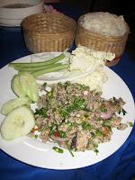 Laap with Mekong fish - mmmmmmmm