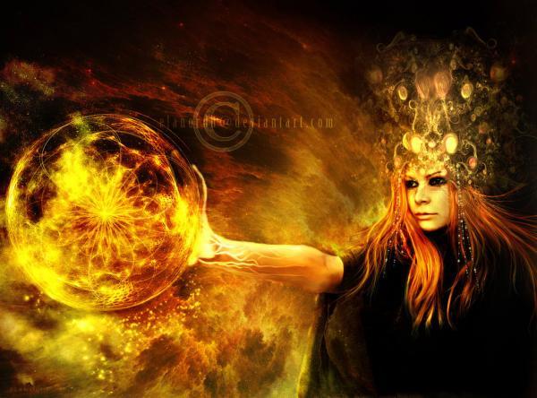 The Sorceress Of Black Magic By Elanordh, Black Magic