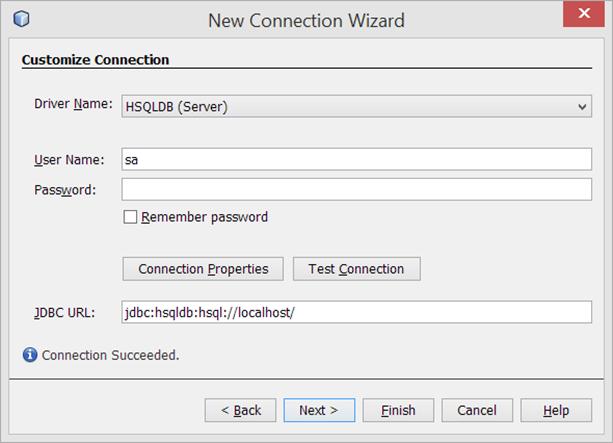 Netbeans conectarse a un servidor HSQLDB