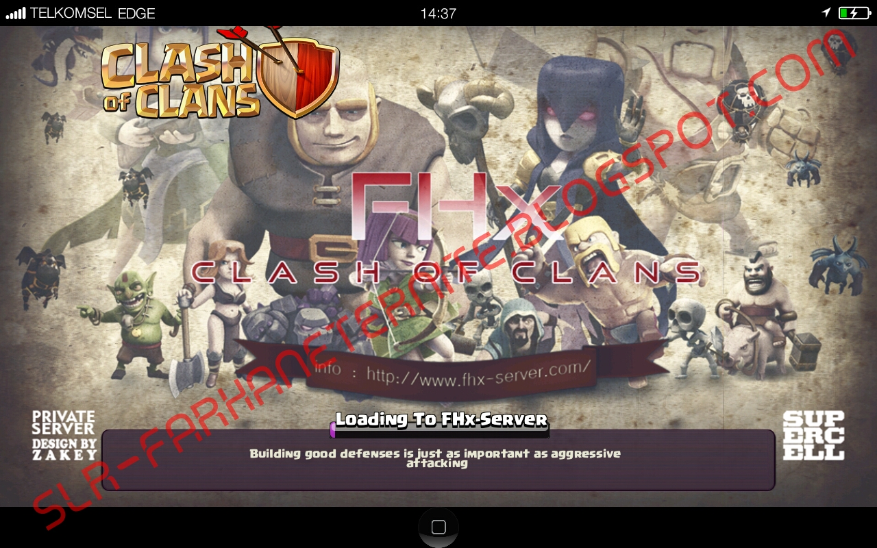 DOWNLOAD CLASH OF CLANS FHX 6 B SERVER INDONESIA 46 MB Avalanchex