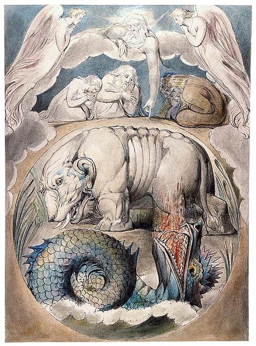 Behemoth And Leviathan By William Blake, William Blake