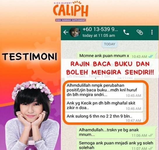 testimoni caliph