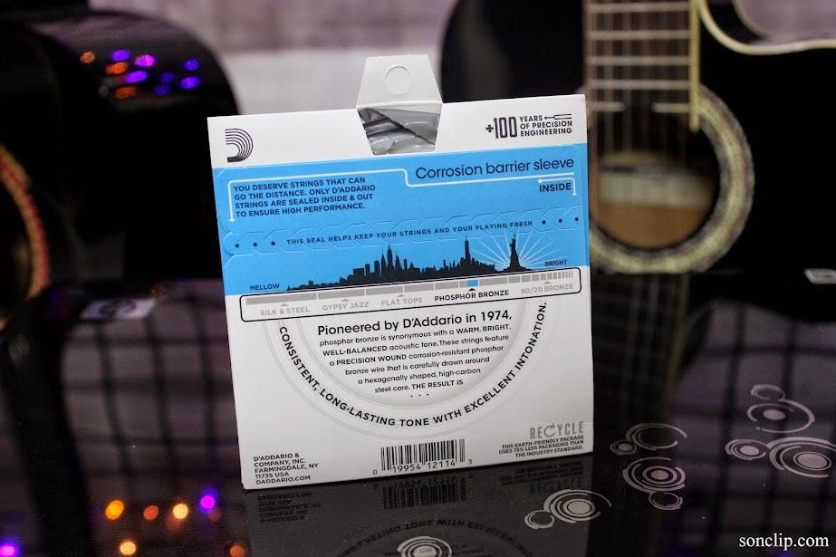 Dây Đàn Guitar Acoustic - D'Addario EJ16